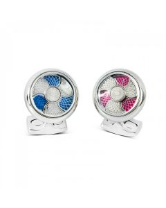 D&F Cufflinks ST Propeller Twist
