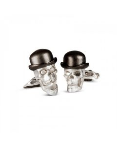 D&F Cufflinks 925 Skull/Diamond Eyes