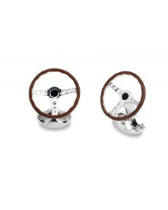 STERLING SILVER VINTAGE STEERING WHEEL CUFFLINKS