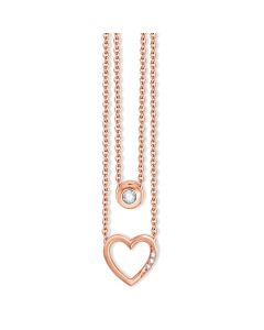 COLLIER 585RG 0,06CT TW/SI