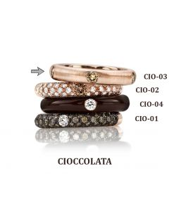 POP Ring Cioccolato neverend 18kt RG