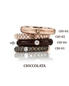 POP Ring Cioccolato Emaille choco 18kt RG