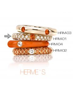 POP Ring Hermes pavé 18kt RG