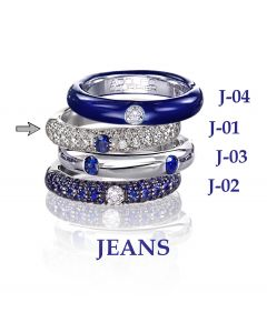 POP Ring Jeans pavé 18kt WG