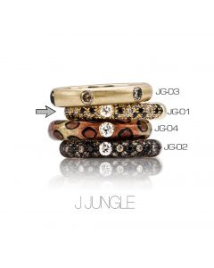 POP Ring Jungle pavé 18kt YG