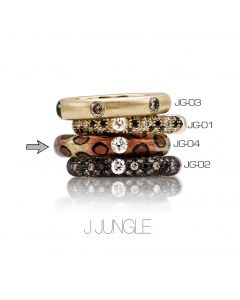 POP Ring Jungle Emaille Leopard 18kt YG