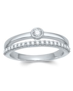 RING 585PWG 0,22CT TW/SI